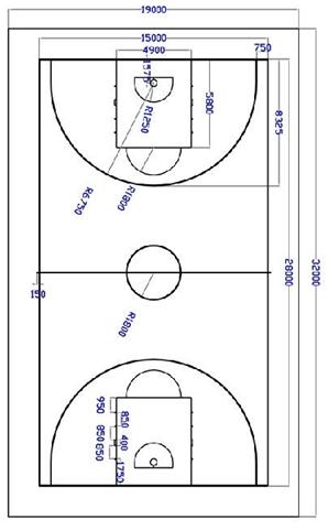 详如下: 1,篮球场
