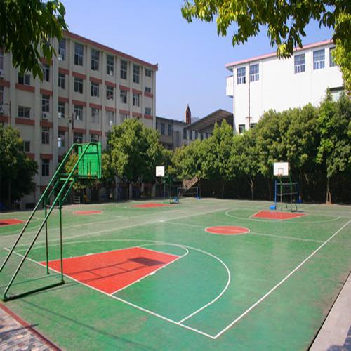 安徽淮南理工大学塑胶篮球场