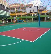 广东中山古镇中心幼儿园塑胶球场