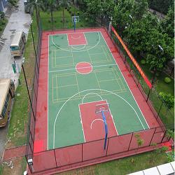 东莞市大岭山南华学校塑胶篮球场
