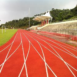 湖南省湘潭火炬中学透气型塑胶跑道