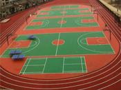 湖北咸宁市横石中学混合型塑胶跑道