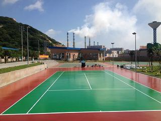 广东海洲中学硅PU塑胶球场