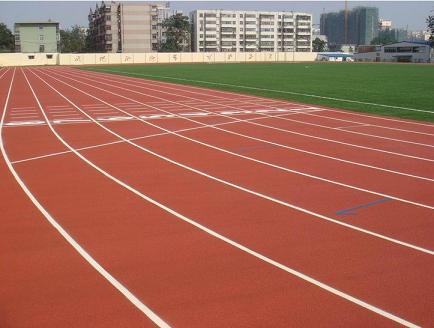 广州一中实验学校混合型塑胶跑道