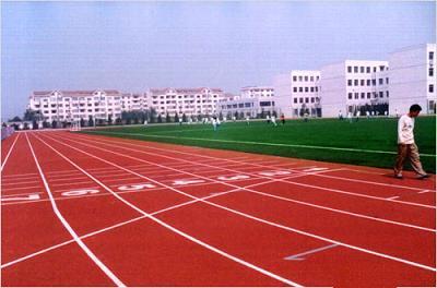 哈尔滨第三中学体育场透气型塑胶跑道工程