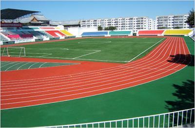 哈尔滨工程大学体育场透气型塑胶跑道工程