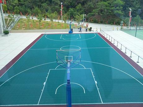 深圳公安局特警支队硅PU篮球场铺设工程