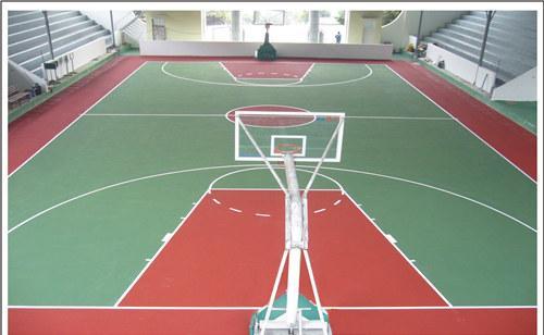 湖南郴州第一中学硅PU篮球场